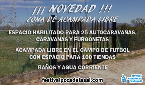 Novedad: Zona de acampada libre y espacio para autocaravanas